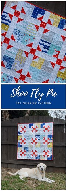Shoo Fly Pie by Cheryl of Meadow Mist Designs is a modern take on a classic block, the Shoo Fly block which dates back to 1897. The pattern is fat quarter and 1/4 yard cut friendly. The quilt pattern includes instructions for baby, lap, twin, queen, and king sizes. #ShooFlyPieQuilt #FatQuarterQuilt #MeadowMistDesigns Churn Dash Quilt, Shoo Fly, Fat Quarter Projects, Scrap Quilt Patterns, Fat Quarter Quilt, Scrappy Quilts, Queen, Easy Sewing Projects, Fat Quarters
