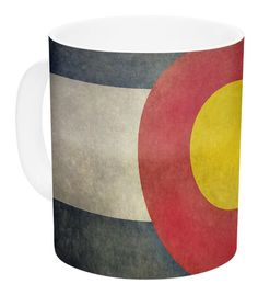 State Flag of Colorado by Bruce Stanfield 11 oz. Ceramic Coffee Mug