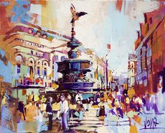 London - Picadilly, 80x100cm/ 31,5x39,4 inch, acrylic on canvas