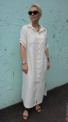 Ideas For Sewing Women Dresses Tunics Linen Dresses, Casual Dresses, Fashion Dresses, Dresses With Sleeves, Sleeve Dresses, Cotton Dresses, Summer Dresses For Women, Dress Patterns, Shirt Dress