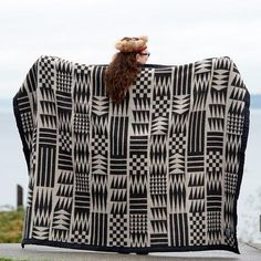 Product DetailsThis blanket was designed by Inspired Natives Project collaborator Michele Reyes.Made in USAFabric Content: 100% Cotton. Blanket size: 60