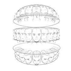 """Head Rotation"" Art Reference -  Manga Drawing Tips                                                                                                                                                                                 Más"