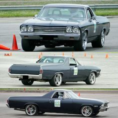 Global West Customer Testimonial: A huge thanks to Carl for sending us several pictures of his 1968 El Camino at the Pitt Race in Pennsylvania. His car is equipped with the Global West Gen 3 Negative Roll front suspension, coilover kit,  upper and lower rear trailing arms, frame braces, steering box and Wilwood brakes.
