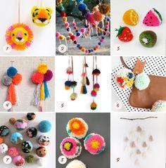 DIY pom pom project ideas | 100 Layer Cakelet