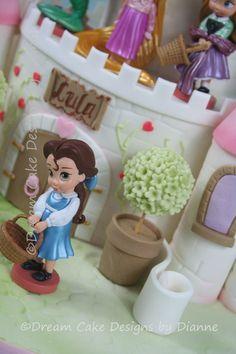 'LULA' ~ 2 TIER DISNEY THEMED PRINCESS CASTLE CAKE Princess Castle, Birthday Cakes, Fondant, Special Occasion, Disney, Birthday Cake, Gum Paste, Happy Birthday Cakes, Disney Art