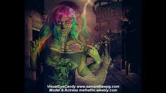 4D Toxic POP Zombie BodyPaint VisualEyeCandy Mark Z, Body Painting, Walking Dead, Body Art, Eye Candy, Neon Signs, Magazine, Pop, Inspired