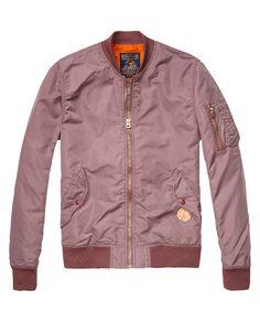 Bomber jacket - http://webstore-all.scotch-soda.com/men/jackets-%26-coats/bomber-jacket/14010110026.html?dwvar_14010110026_color=faded%20plum#start=1&cgid=9