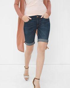 White House | Black Market Bermuda Jean Shorts #whbm