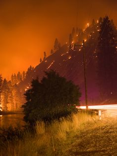 The Springs Fire, Banks-Garden Valley, Idaho, Boise National Forest, August 7, 2012