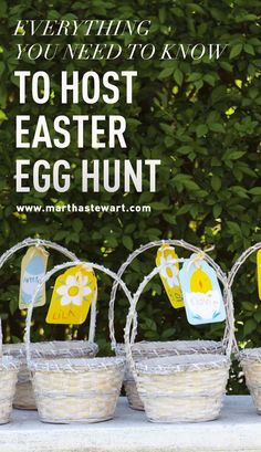 Everything You Need to Know to Host an Easter Egg Hunt | Martha Stewart Living - Okay, so you've got the basics down: the kids, the dyed eggs, the baskets, and the candy. But you're going to need to dig deeper if you want to create a truly memorable event. Crown yourself the king or queen of your Easter egg hunt with our top ten hunt essentials.