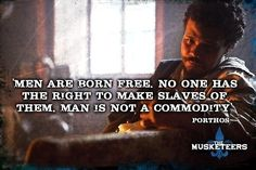 "The poignant truths | Community Post: 12 Reasons Why BBC One's ""The Musketeers"" Is Fantastic #themusketeers"