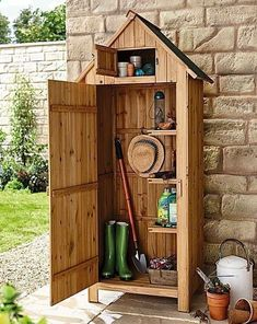 Garden Tool Shed | House of Bath #homegardentools #deckbuildingtools