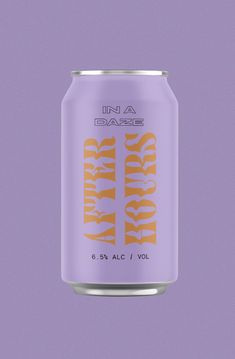 After Hours brand and packaging designed by Here and Now Creative Co. | A sour beer brand for those hot summer daze. #beerbrand #beveragepackaging #packagingdesign #branding #branddesigner #creativepackagingdesign #foodandbeveragebrands