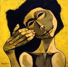 Cabeza y mano I  by Oswaldo Guayasamin