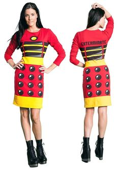 Doctor Who Red Dalek Dress $34.99