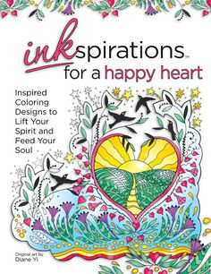 Inkspirations for a Happy Heart: Inspired Coloring Designs to Lift Your Spirit and Feed Your Soul Adult Coloring Book Pages, Coloring Books, Colouring, Cow Parade, Lift Design, Feed Your Soul, Cross Hatching, Happy Heart, Gel Pens