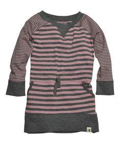 Another great find on #zulily! Persian Rose Stripe Organic Raglan Dress - Infant, Toddler & Girls #zulilyfinds
