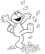 Elmo's happy about going back to school are you ? Printable Coloring Pages to get your little preschoolers in the right frame of mood and more  @Parenting.com