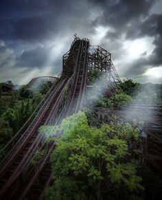 Abandoned roller-coaster
