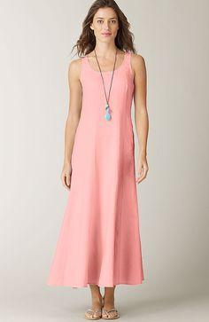 > seamed linen dress at J.Jill