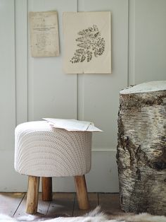 Low Knitted Stool NEW