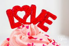cupcake decorations www.cupcakecorner.com Valentine Day Cupcakes, Valentines Day, Birthday Candles, Birthday Cake, Eye Photography, Themed Cupcakes, Love Heart, Food Styling, Sprinkles