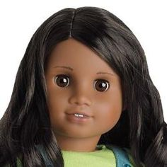 Sonali was the 7th face mold created for American Girl Dolls. First used on Sonali in 2009, but initially created for a prototype of Mia that was never made. The eyes are round, cheeks full & slightly wider smile. The nose is slimmer than the one used on the Addy Mold but wider than the Classic.  Her ears differ greatly than those on other molds. The top part of the ear appears to be flat with very little carving or detailing in the plastic. unlike most which have more defined features.