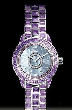 Purple Dior watch