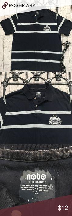 NoBo Mens Striped Polo Shirt sz XL Mens striped Polo Shirt in size XL made by No Boundaries. NoBo Shirts Polos