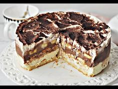 Der leckerste Bananenkuchen ohne Backen - Banana Monkey - Sweet Tooth - Eat or Not Foods Sweet Desserts, No Bake Desserts, Sweet Recipes, Baking Recipes, Cake Recipes, Dessert Recipes, No Bake Pies, No Bake Cake, Sweets Cake