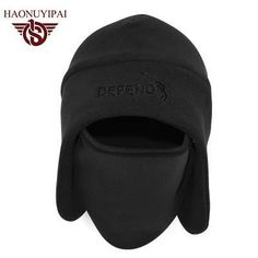 2016 High Quality Embroidery Hats Motorcycle Thermal Fleece Balaclava Neck Caps Winter Ski Full Face Mask Cap Custom Hat HE001
