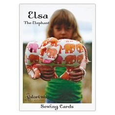 Valori Wells Elsa The Elephant Toy Sewing Card Pattern