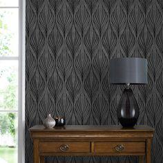 Optimum Black and Silver Wallpaper