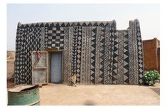 Tiebele house decorations of Burkina Faso, Africa