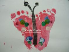 Footprint butterfly kid-ideas