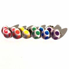 Cute little Yoshi Egg earrings! #eggs #yoshi #mario #supermario #yoshisisland #gameboy #nintendo #earrings #jewelry #gamer #videogame