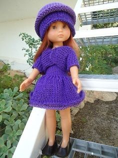Tuto ensemble robe-veste-chappeau poupée Chérie - demander par le biais des commentaires