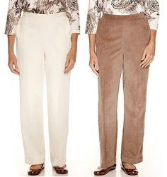 Alfred Dunner Womens Twilight Point Corduroy Pants Pull On 8 12 14 16 18