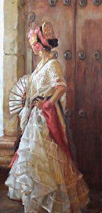 Jarocha by Gladys Roldan-de-Moras Oil ~ 48 x 24