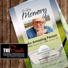 THE ULTIMATE GOLFER ... (printable funeral program template)