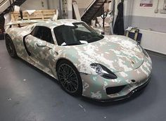 So this #Porsche #918 ( @route.77 ) has been wrapped ready for #gumball3000 what do you think of the wrap? #gumballteam57  Live coverage Periscope : gumballteam57