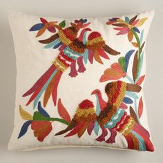 Not bad, World Market, not bad. Good naive design. Two Birds Throw Pillow a steal at $21.