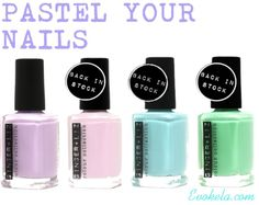 Pastel nail colors for summer