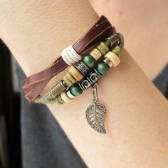 Boho Jewelry-Boho Bracelet-Beaded Bracelet-Layered Beaded Bracelet-Gift For Her-Bohemian Jewelry-BOHEMIAN BRACELET-Natural Bracelet