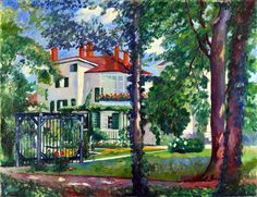 Henri Manguin (France 1874-1949) Villa Flora, Winterthur, Switzerland (1912) oil on canvas 76 x 96 cm