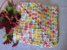Diagonal Dishcloth Pattern