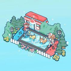 Nintendo Switch - Pokémon: Let's Go, Pikachu! and Let's Go, Eevee! Pokemon Fan Art, Pokemon Life, My Pokemon, Pokemon Games, Kawaii Drawings, Cute Drawings, Pokemon Mignon, Photo Pokémon, Chibi