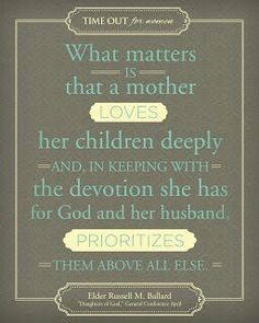 Prioritize God, spouse, and children above all else.