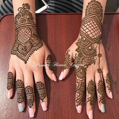 """2,360 Likes, 40 Comments - Promy Bari (@promyshennacavern) on Instagram: """"I'm pretty obsessed with the lace design . Keeping it on all night to check for stain. #henna…"""""""