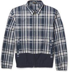 Jil Sander Esteta Check Cotton-Blend Seersucker Jacket | MR PORTER